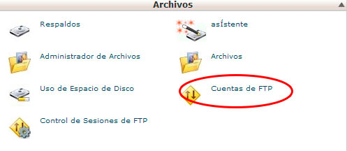cuentas ftp