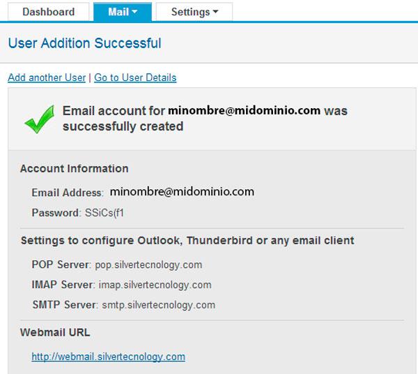 Registro de correo electronico