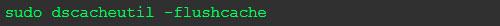 limpiar cache DNS Mac