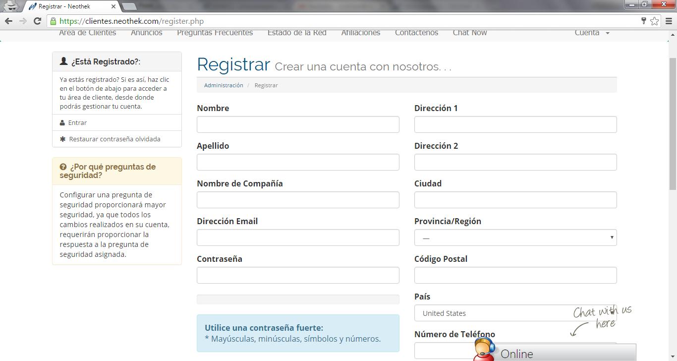 Registro Clientes