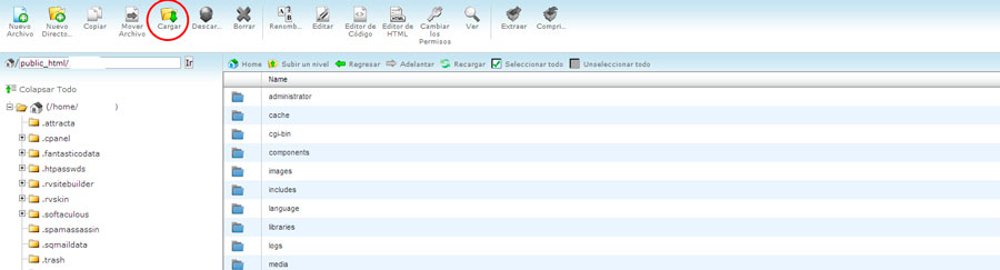 cargar archivos