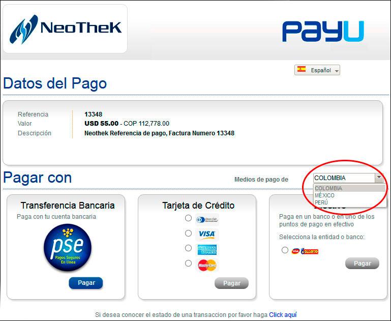 metodos de pago colombia