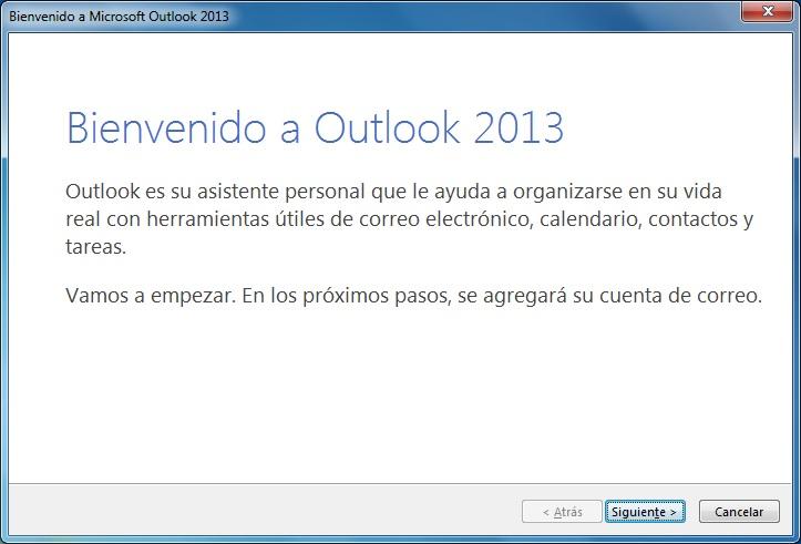 Bienvenido a Outlook 2013