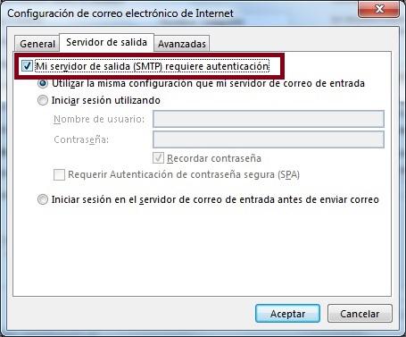 Servidor De Salida SMTP