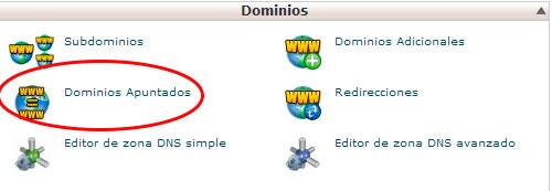 dominios apuntados
